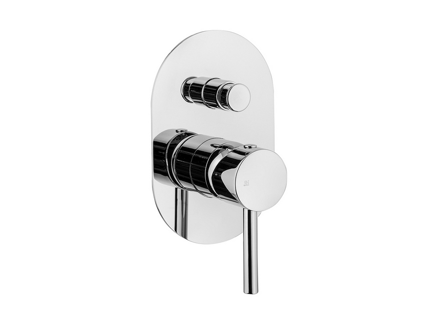 BUILT-IN SHOWER PLATE MIXER WITH DIVERTER CHROME STELO
