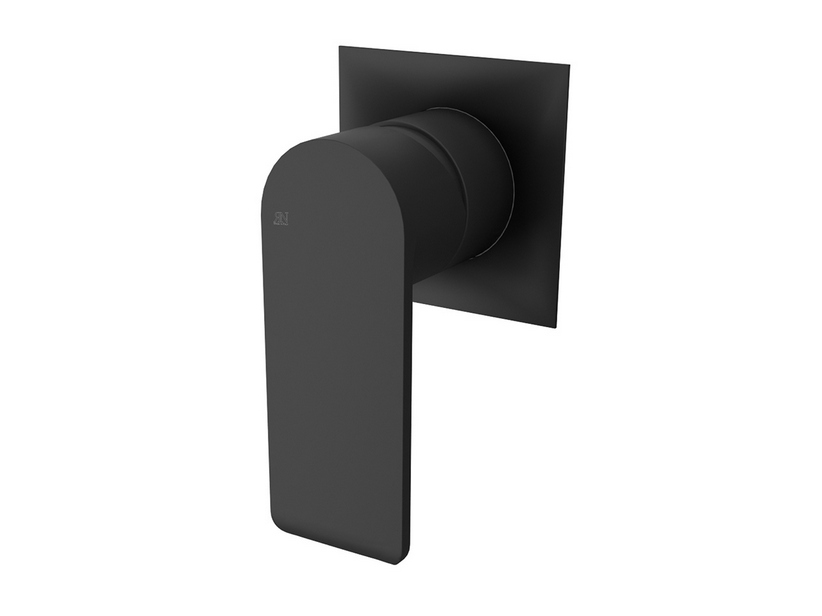 BUILT-IN SHOWER PLATE MIXER BLACK MATT PINK
