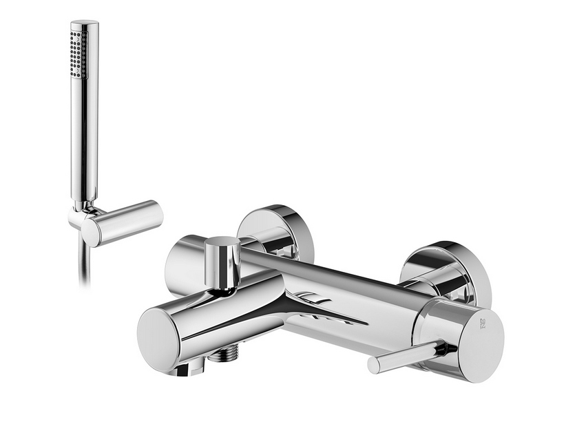 BATH MIXER WITH SHOWER KIT CHROME STELO