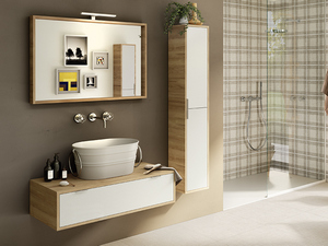 MILU' BATHROOM FURNITURE 100 WALL-HUNG WITH TOP