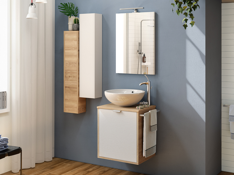 MILU' BATHROOM FURNITURE 50 CM WITH TOP FOR WASHBASIN