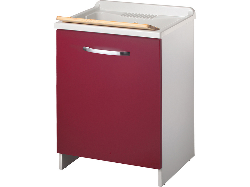 TOP COLOR LAUNDRY SINK 60x50 RED DOOR