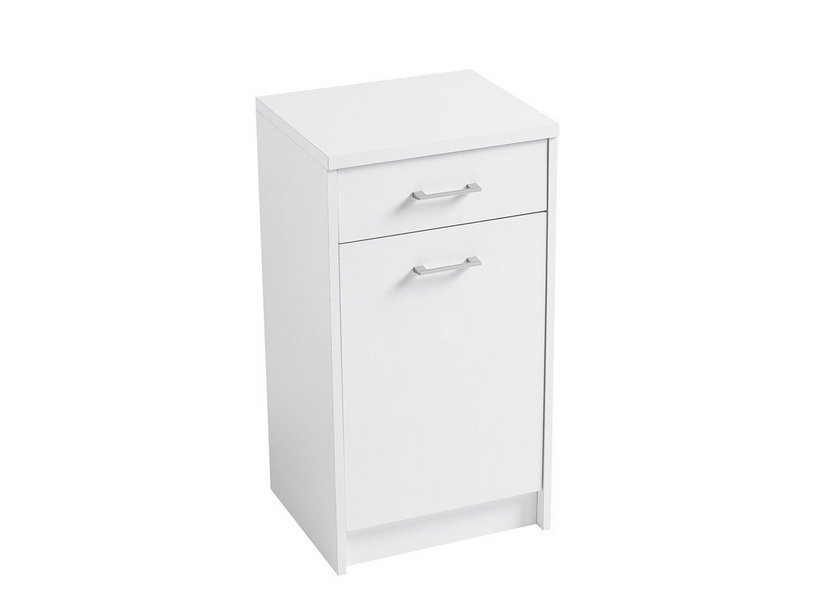DOMESTICA FURNITURE 45X38X85 WHITE CHIPBOARD WITH LEFT DRAWER