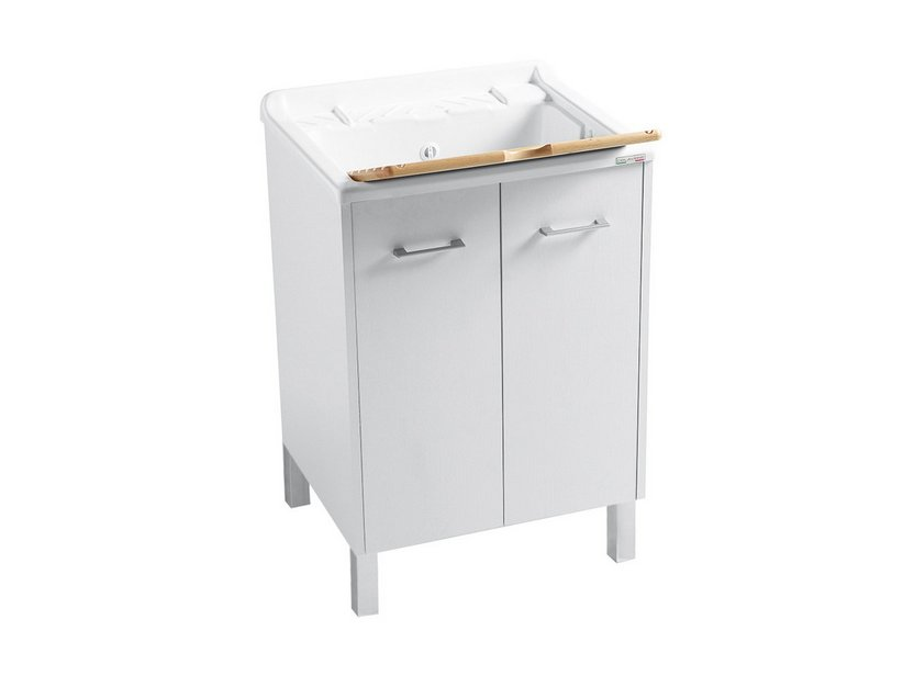 DOMESTICA LAUNDRY SINK WHIT FEET 60X60 WHITE CHIPBOARD