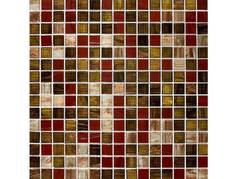 Mosaico Vetro Red Charme 32,5X32,5 Marrone