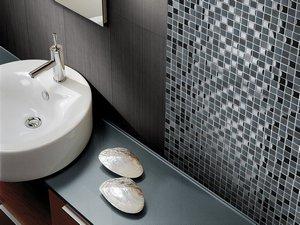 Bagno Con Mosaico Nero : Mosaico lavagna nero iperceramica