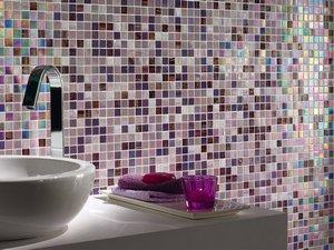 Mosaico bagno in vetro iperceramica