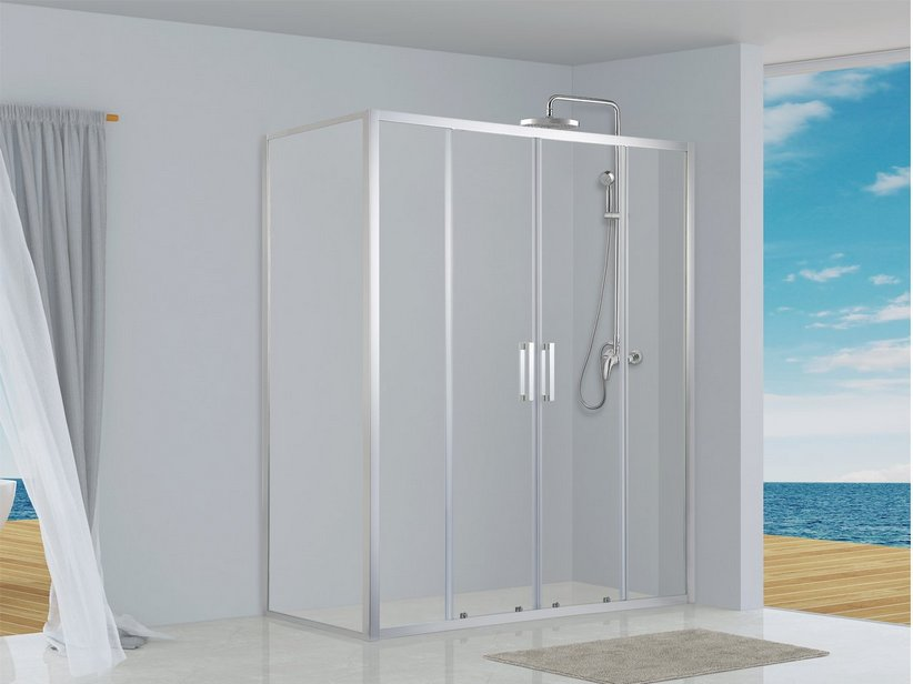 NEPTUM 2 SLIDING DOOR SHOWER ENCLOSURE 70X170