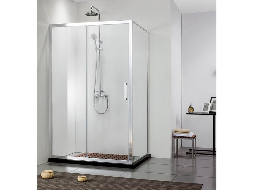 NEPTUM 1 SLIDING DOOR SHOWER ENCLOSURE 70X140