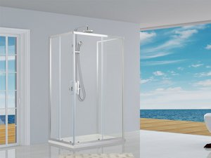 NEPTUM SLIDING 3 SIDED SHOWER ENCLOSURE 70x120