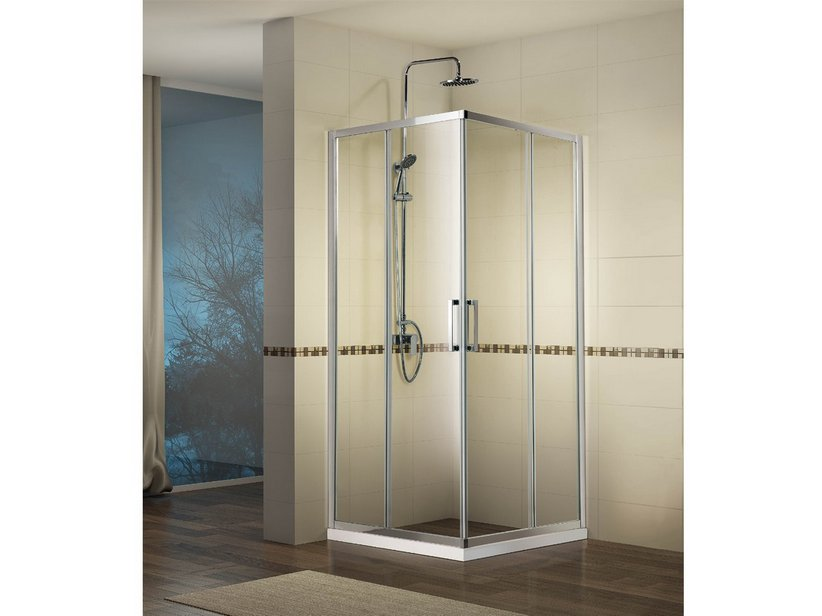 NEPTUM CORNER SLIDING SHOWER ENCLOSURE 90X100