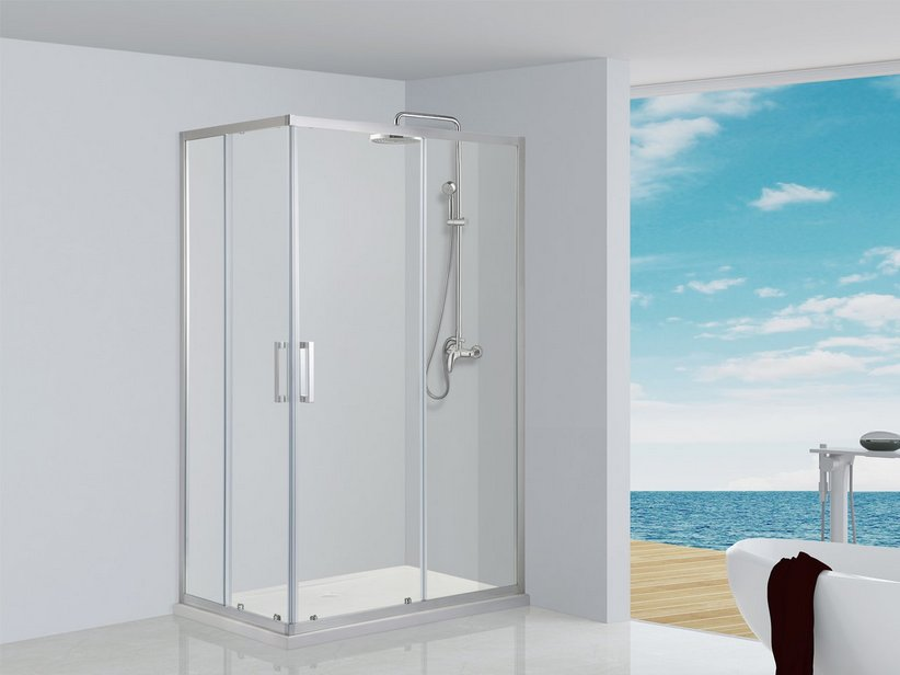 NEPTUM CORNER SLIDING SHOWER ENCLOSURE 70X90