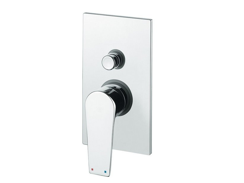 NOVELLA SHOWER MIXER PLATE WITH DIVERTER CHROME