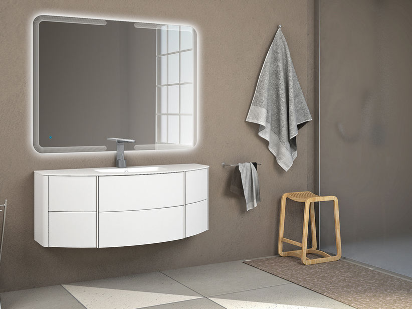 OLAS 120 CABINET AND BASIN WHITE MATT