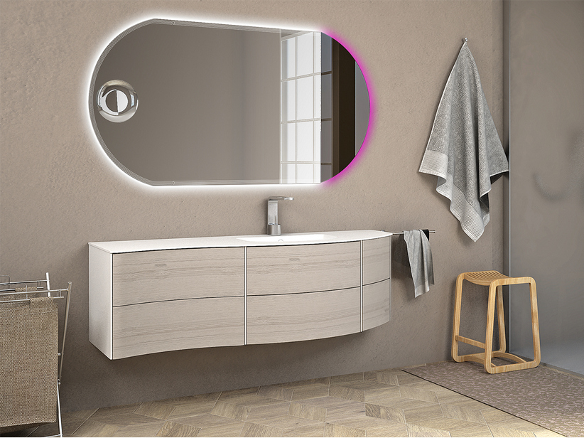 OLAS 152 DX CABINET AND BASIN WHITE OAK