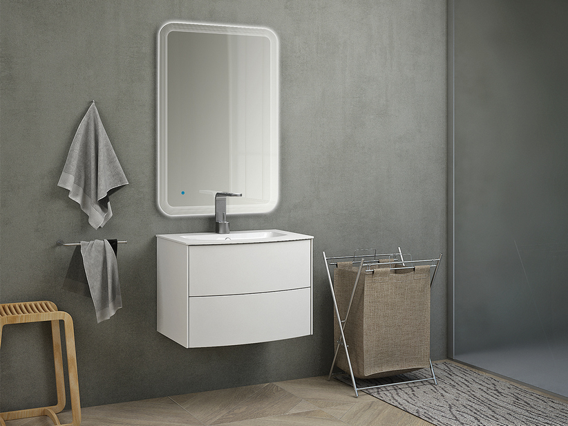 OLAS 62 CABINET AND BASIN WHITE MATT