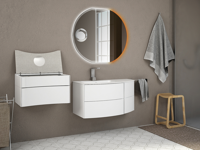 OLAS 91 SX CABINET AND BASIN WHITE MATT