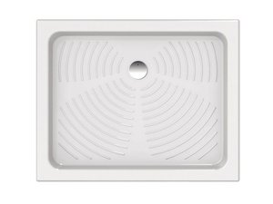 Piatto doccia ceramica Point 120 x 80 cm nero prezzi e