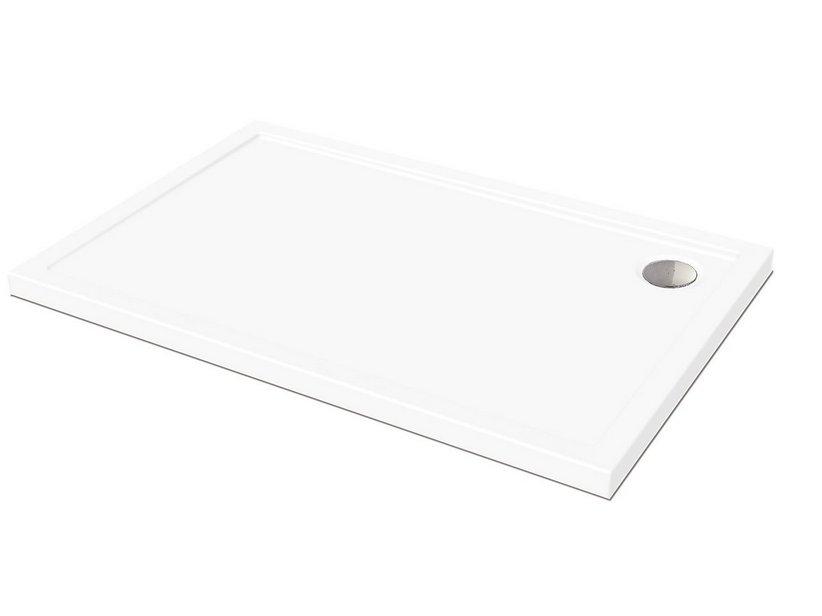 Piatto Doccia Ceramica 80x100.Piatto Doccia Flat 80x100 Altezza 5 Bianco Iperceramica