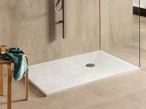 SLATE SHOWER TRAY 90x160 DECAPE' WHITE