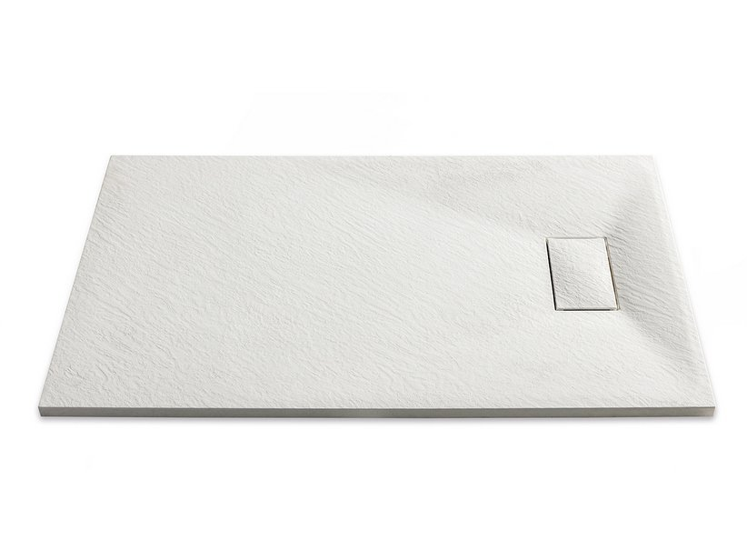 STONE SHOWER TRAY 80x100 BIANCO