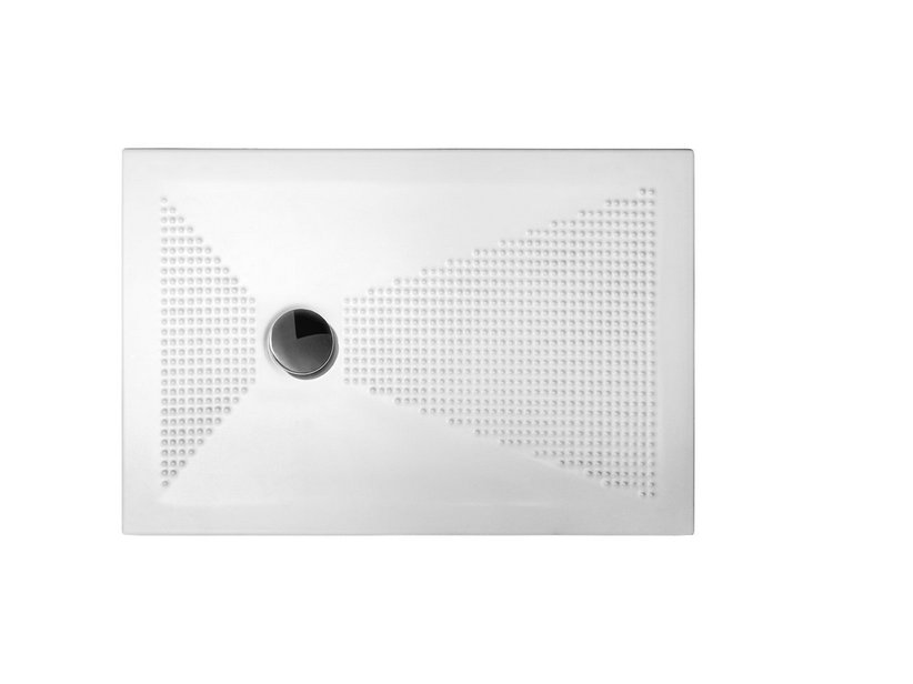 Piatto Doccia Ceramica 80x100.Piatto Doccia Up H3 80x100 Semisfere Bianco Iperceramica