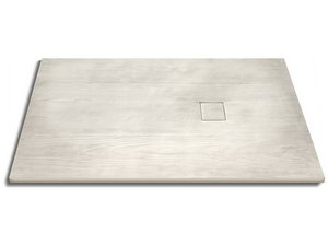 WOODY SHOWER TRAY 90x140 BLEACHED