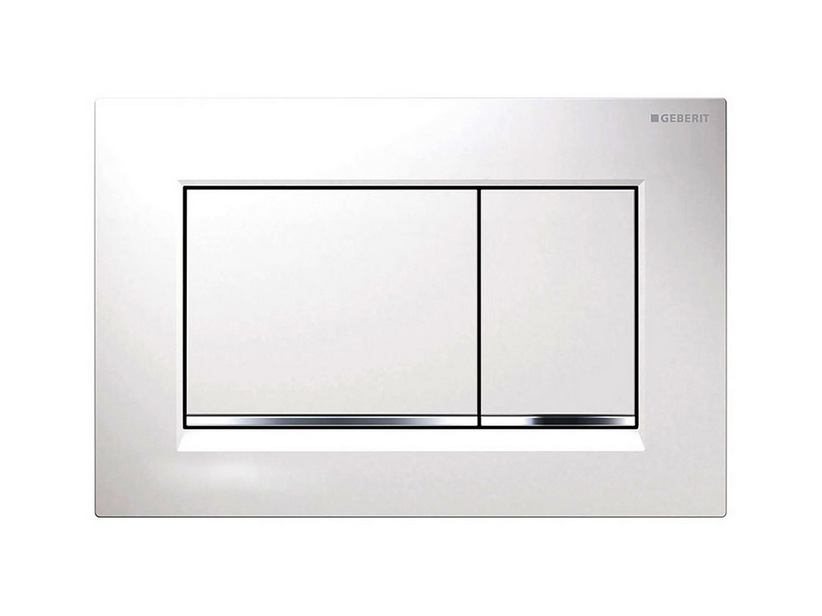 SIGMA30 GEBERIT START DUAL FLUSH PLATE WHITE/CHROME/WHITE