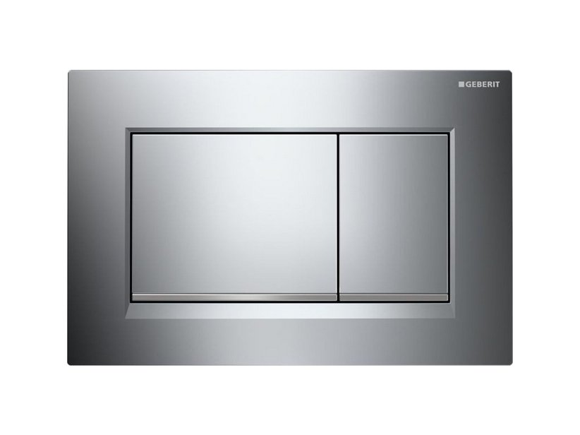 SIGMA30 GEBERIT START DUAL FLUSH PLATE CHROME/SATIN/CHROME