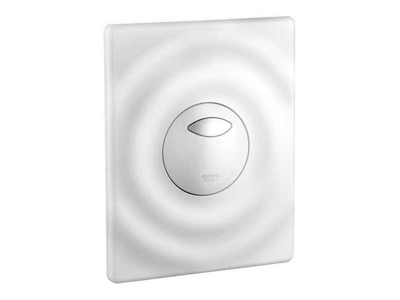 GROHE® WAVE DUAL FLUSH PLATE WHITE