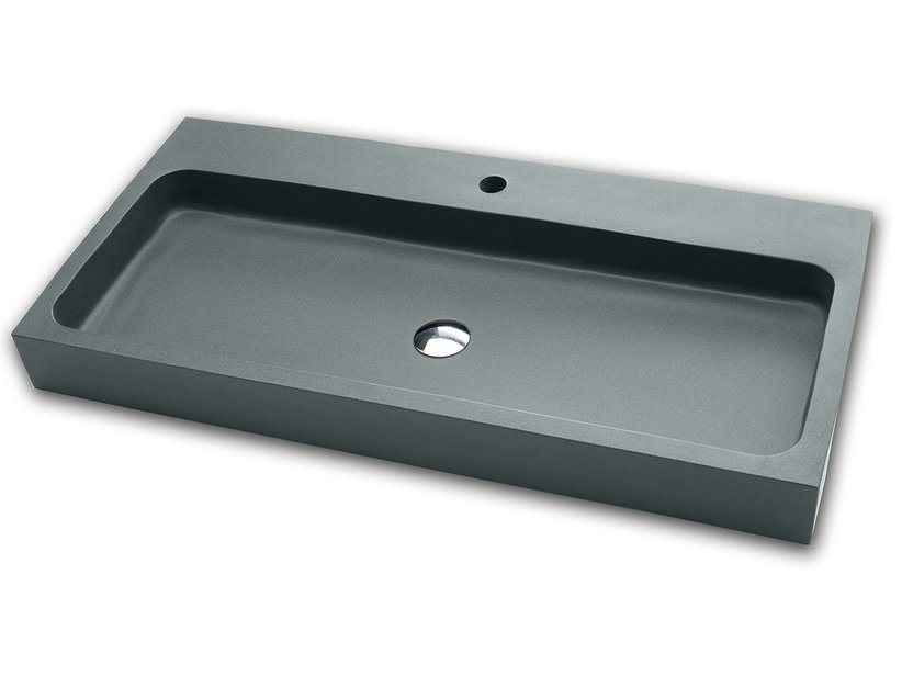 PONZA DECORATIVE WASHBASIN 100 GREY CARNICO RESIN