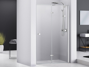 CHAKRA SHOWER HINGED DOOR PIVOT 100 H195 RIGHT SIDE OPENING TRANSPARENT/CHROME