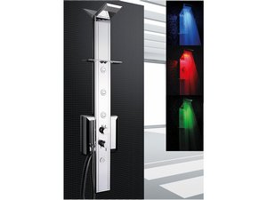 PRISMA LED SHOWER PANEL 140 CHROME TERMOSTATIC