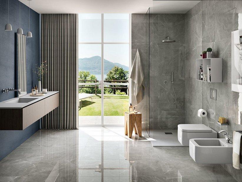 Rivestimento bagno effetto marmo full lappato rettificato pulpis