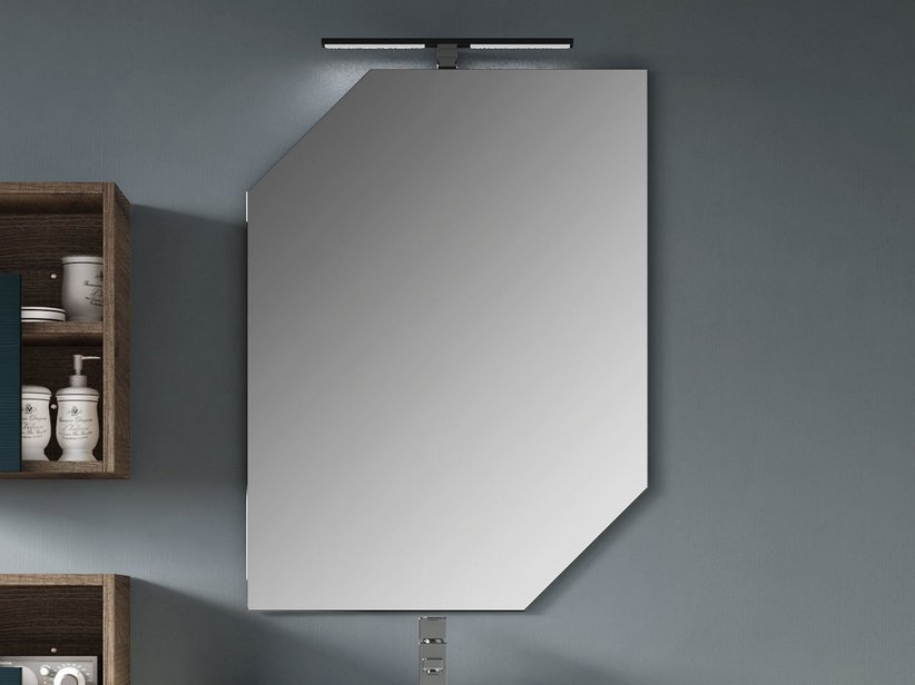 FRAMELESS MIRROR 2 CORNERS CUT 45° cm. 90X64