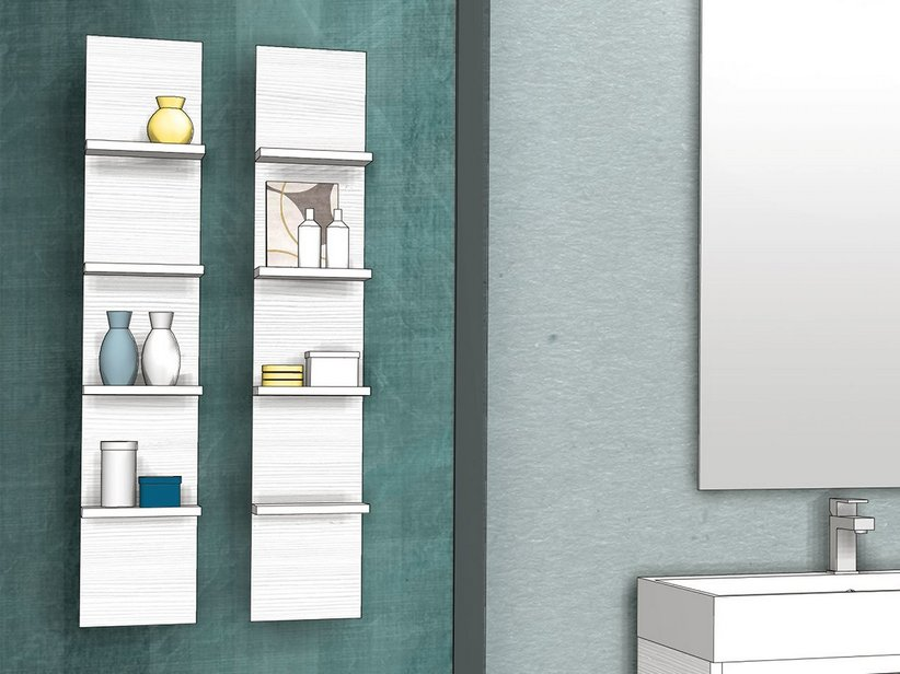 QUBO ETAGERE WITH 4 SHELFS MATRIX WHITE