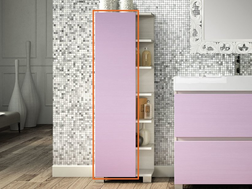 QUBO DOOR FOR COLUMN CABINET MATT LILAC