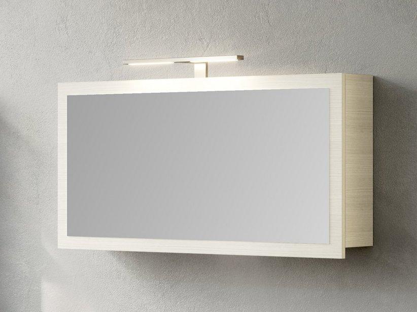 Specchio Bagno Bianco.Qubo 100 Specchio Contenitore Bianco Matrix Iperceramica