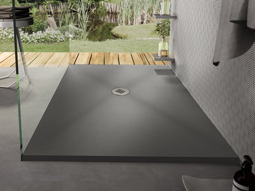 SAHARA SHOWER TRAY 80x120 CARNICO GREY