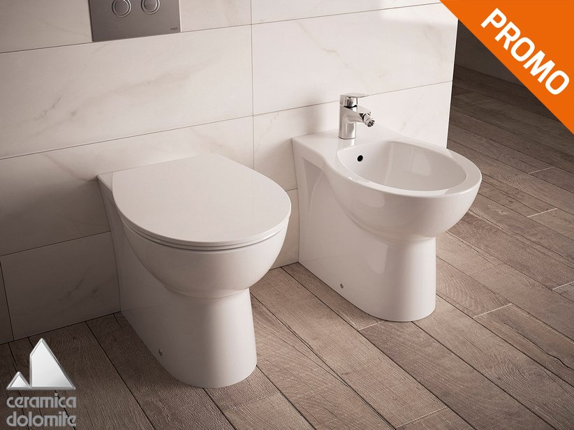 Quarzo Floor-Mount Back-to-Wall Sanitary Ware