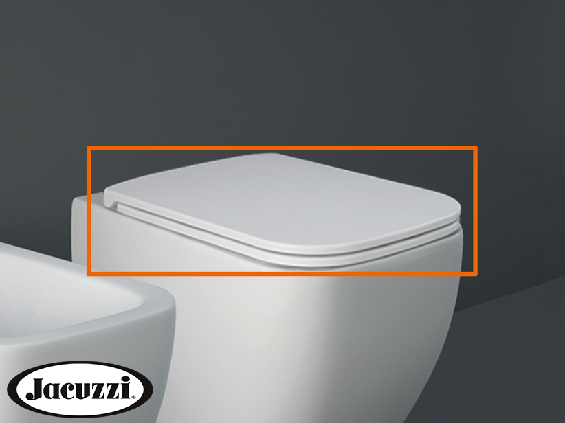 JACUZZI® RAY TOILET SEAT TERMOSET SLOW-CLOSE WHITE