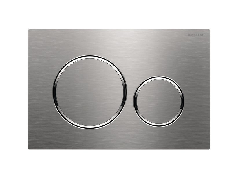 SIGMA20 GEBERIT START DUAL FLUSH PLATE BRUSHED INOX