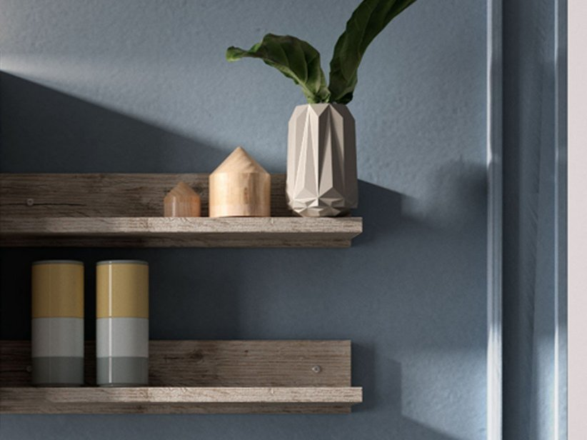 SMART SHELF 'L' 49 x10 h12 NATURAL OAK