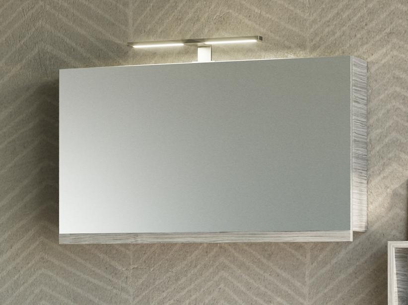 Specchio Bagno Contenitore.Specchio Bagno Smile Contenitore 90x51 Larice Grigio Iperceramica