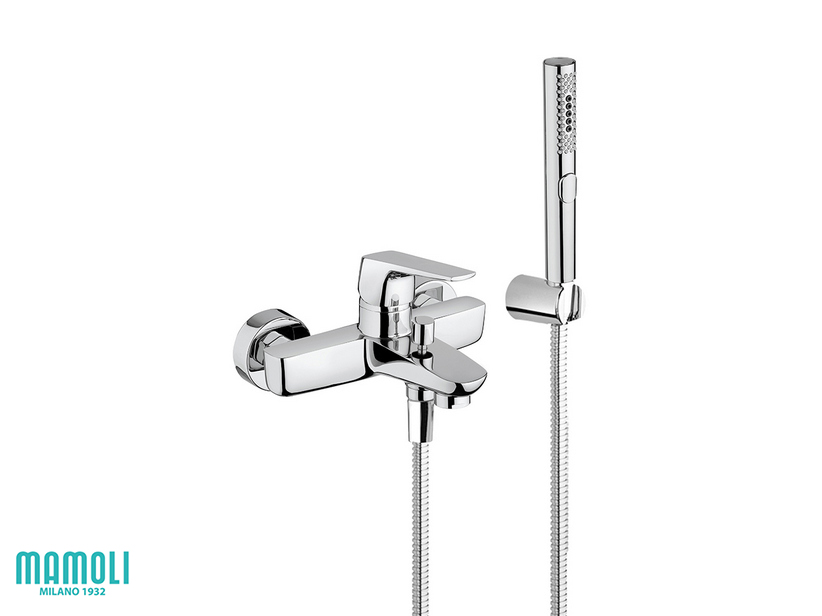 SPARTACO BATH MIXER WITH ACCESSORIES CHROME