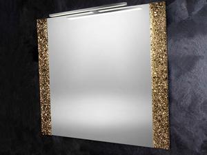 Specchio Bagno Patrizia Con Graniglia Di Cristallo Effetto Bronzo 70x100 Iperceramica