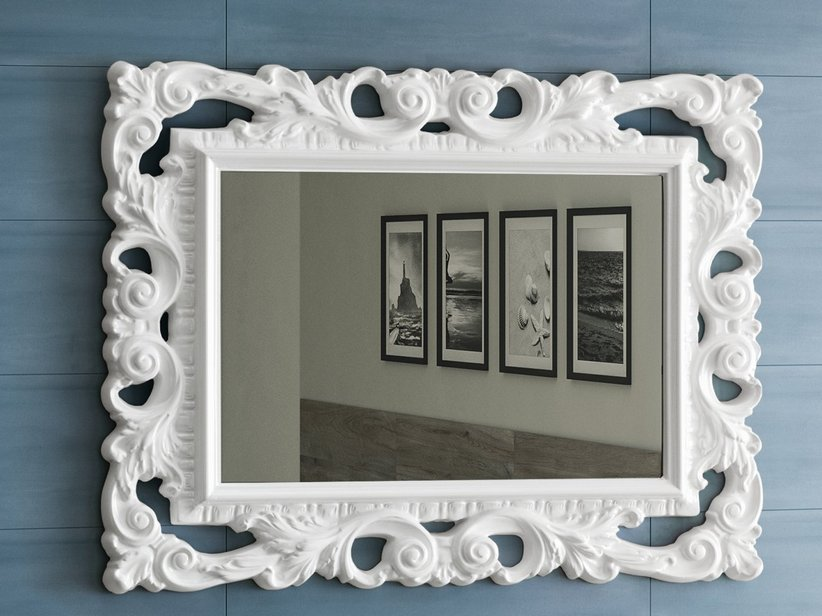 BAROCCO MIRROR 94x75 WHITE MATT