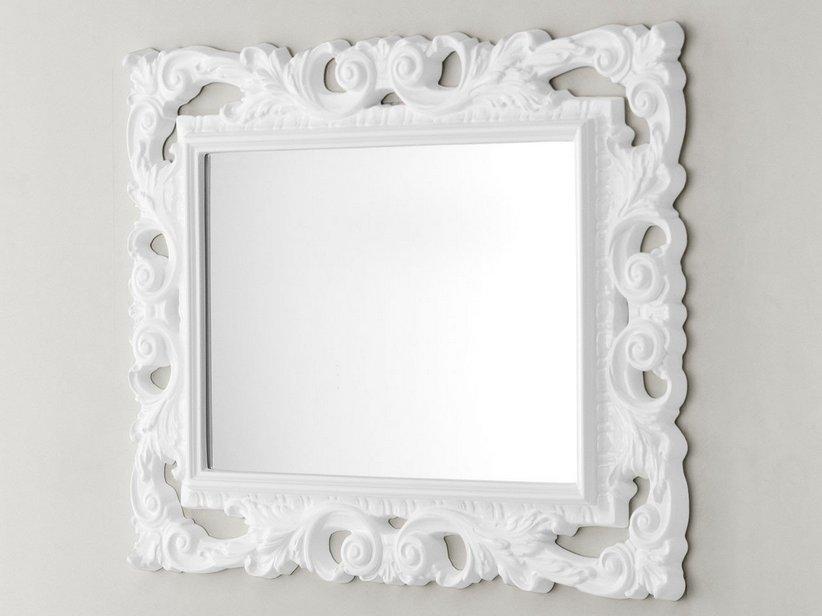 Specchi Barocchi Per Bagno.Specchio Barocco 94x75 Bianco Iperceramica