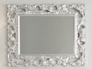 Specchio Bagno Con Cornice Argento.Specchio Barocco 94x75 Foglia Argento Iperceramica