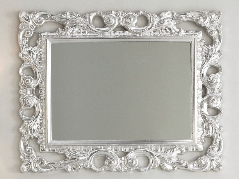 BAROQUE MIRROR 94X75 SILVER LEAF